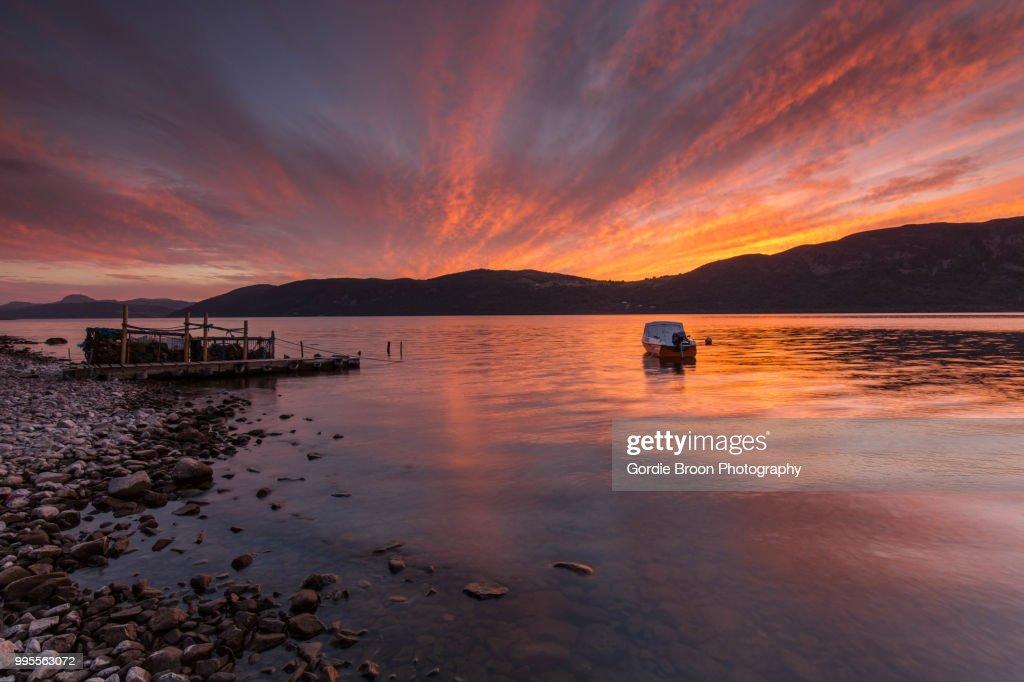 A Loch Ness Glow. : Stock Photo