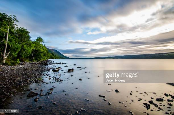 loch ness in early morning, inverness, scotland, uk - loch ness stock pictures, royalty-free photos & images