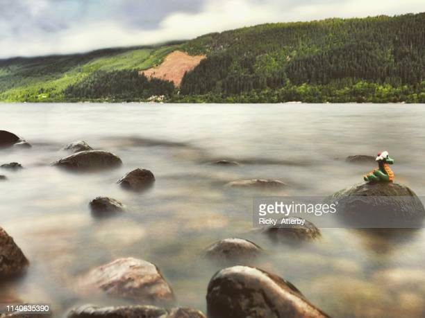 loch ness monster - loch ness monster stock pictures, royalty-free photos & images