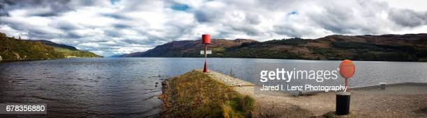 loch ness panoramic - loch ness monster stock pictures, royalty-free photos & images