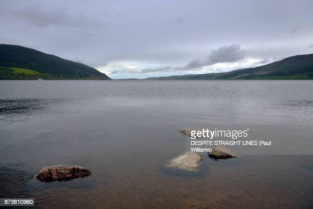 loch nis (loch ness), scottish highlands - loch ness stock photos and pictures