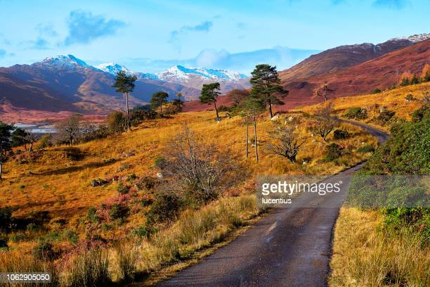 loch quoich landscape, scotland - scottish highlands stock pictures, royalty-free photos & images