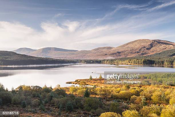 loch riecawr in the galloway forest park - dumfries and galloway stock pictures, royalty-free photos & images
