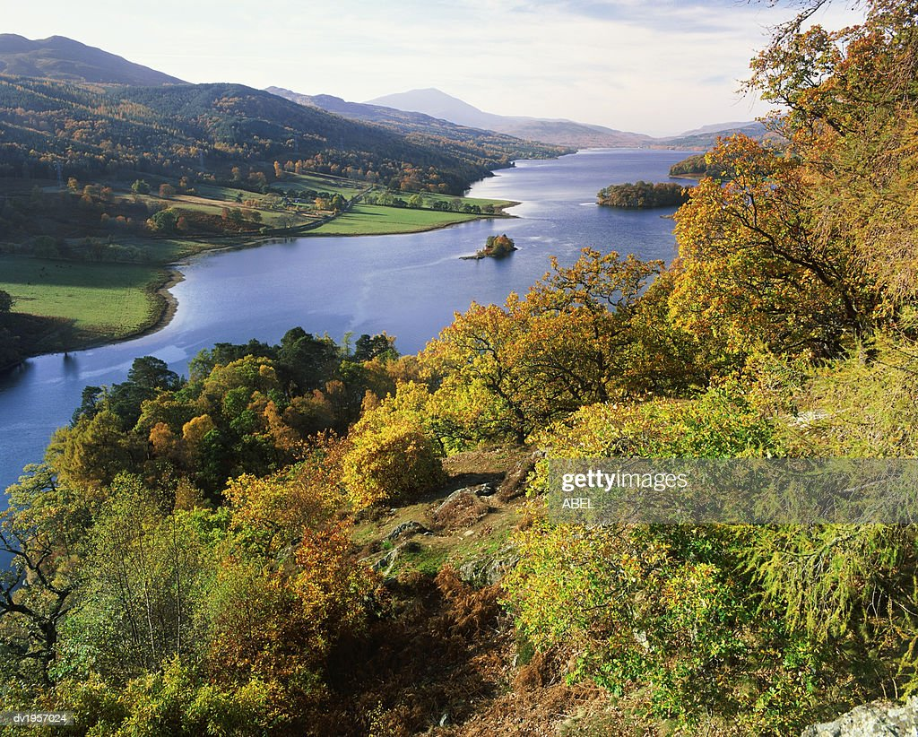 Loch Tummel, Queens View, Perthshire, Scotland : Stock Photo