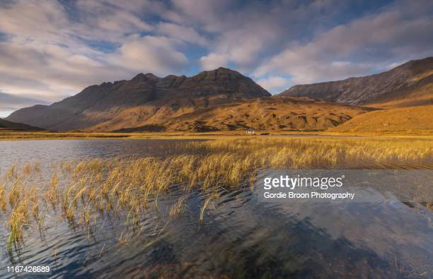 lochan an lasgair. - wester ross stock pictures, royalty-free photos & images