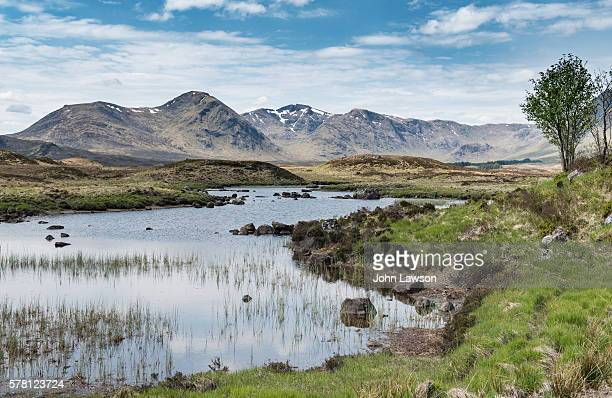 lochan na stainge, rannoch moor, scotland - bog stock photos and pictures