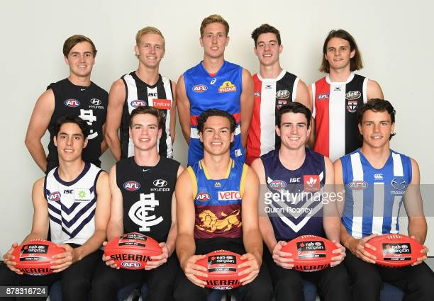 Lochie O'Brien Jaiden Stephenson Aaron Naughton Nicholas Coffield Hunter Clark Adam Cerra Paddy Dow Cameron Rayner Andrew Brayshaw and Luke...