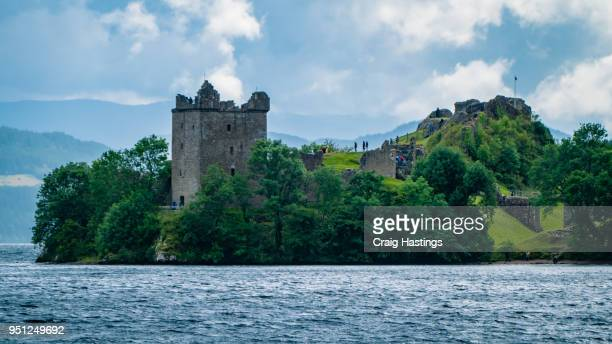 lochness and loche heart castle scotland - inverness scotland stock pictures, royalty-free photos & images