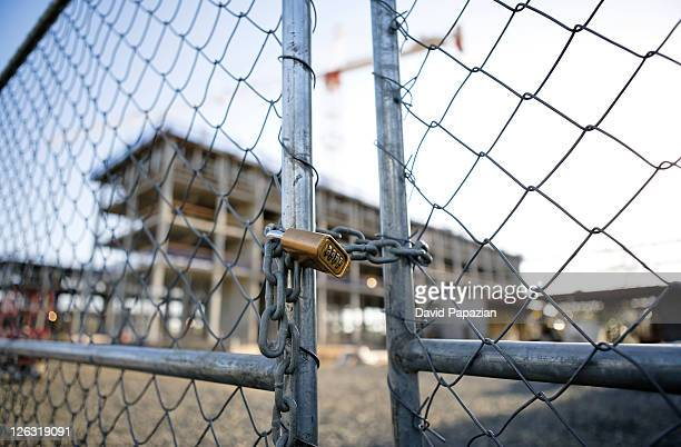 Lock and gate at construction site