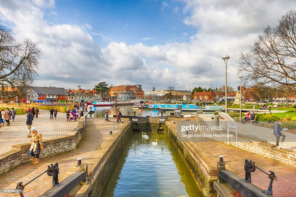 A Lock Gate on the Avon River in Stratford, UK : Stock Photo