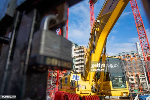 A lock hangs on the gates of the Arundel Great Court development operated by Carillion Plc in London UK on Monday Jan 15 2018 Carillion a UK...