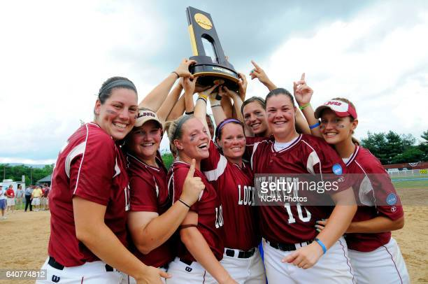 Lock Haven University celebrates their second championship in four years at the Division II Women's Softball Championship held at the James I. Moyer...