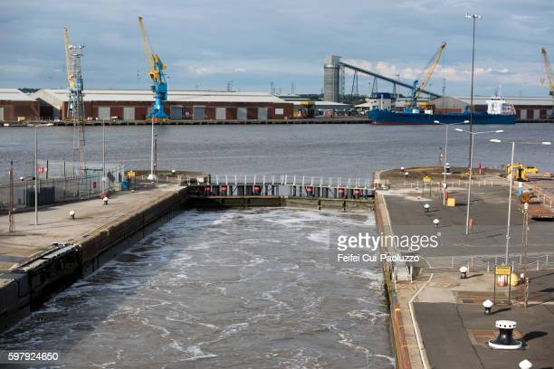 Lock of Port of Hull in Kingston upon Hull of England