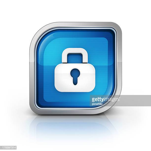 lock security glossy icon