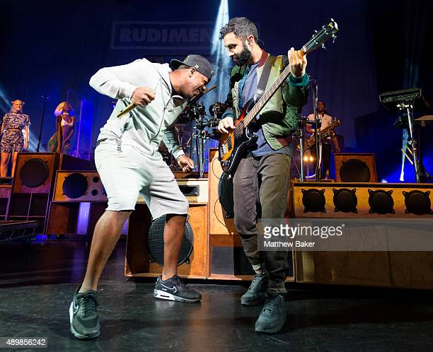 Lock Smith and Amir Amor of Rudimental perform at Hackney Empire on September 24 2015 in London England