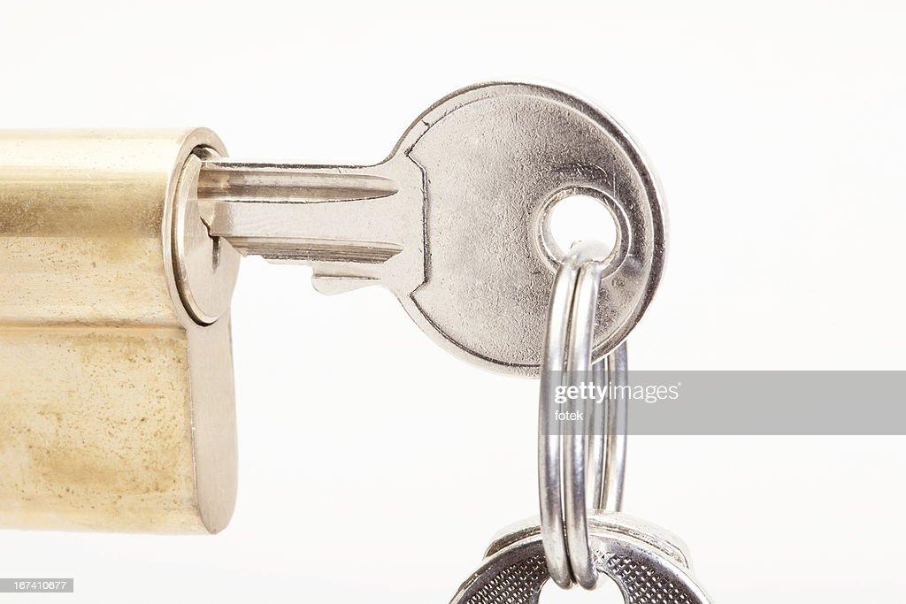 Schloss mit Schlüssel : Stock-Foto