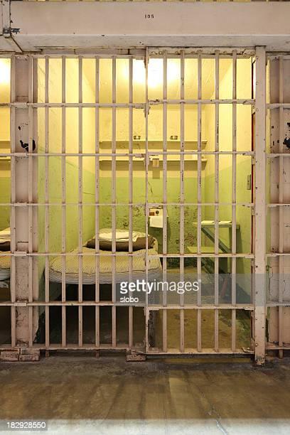 Locked Empty Prison Cell
