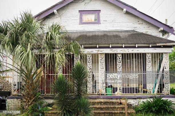 A locked up house in the French Quarter of New Orleans amid restrictions in place to help deal with the Covid19 pandemic 22nd March 2020