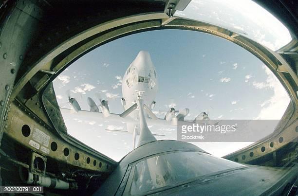 Lockheed C-130 Hercules refueling from Boeing KC-135 Stratotanker