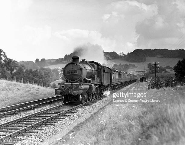Lockheed Hudson' steam locomotive Castle Class 460 engine No 5081 with a down express emerging from the west end of Box tunnel This was one of a...
