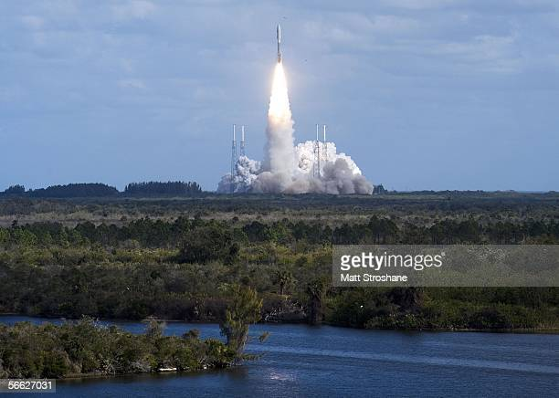 Lockheed Martin Atlas 5 rocket lifts off of pad 41 carrying NASA's Pluto New Horizons spacecraft at the Kennedy Space Center January 19 2006 in Cape...