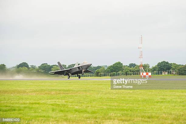 Lockheed Martin F22A at RAF Fairford on July 09 2016 in Fairford England