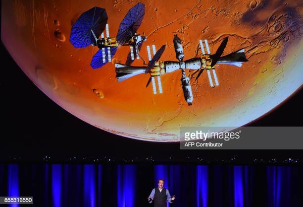 Lockheed Martin's human spaceflight strategy chief Rob Chambers speaks during a presentation of a planned mission to Mars at the 68th International...