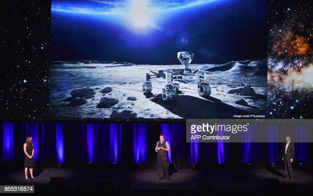 Lockheed Martin's human spaceflight strategy chief Rob Chambers system architect Tim Cichan and systems engineer Danielle Ritchey speak at a...