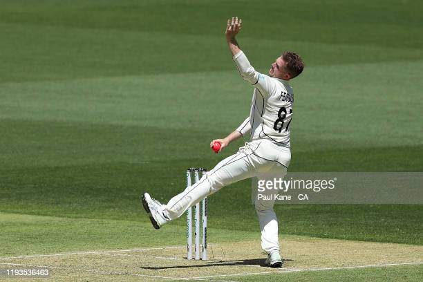 Lockie Ferguson of New Zealand bowls during day one of the First Test match between Australia and New Zealand at Optus Stadium on December 12, 2019...