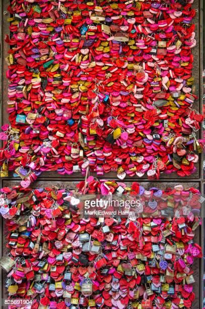Locks, Romeo and Juliet House, Verona, Italy