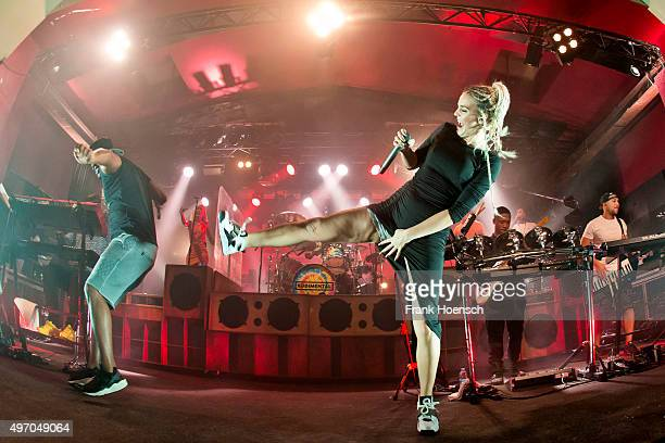 DJ Locksmith and AnneMarie Nicholson of the British band Rudimental perform live during a concert at the Astra on November 13 2015 in Berlin Germany