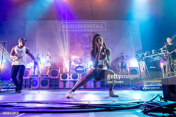 Locksmith and Bridgette Amofah of Rudimental perform on stage during the last day of Sonar Festival on June 14 2014 in Barcelona Spain
