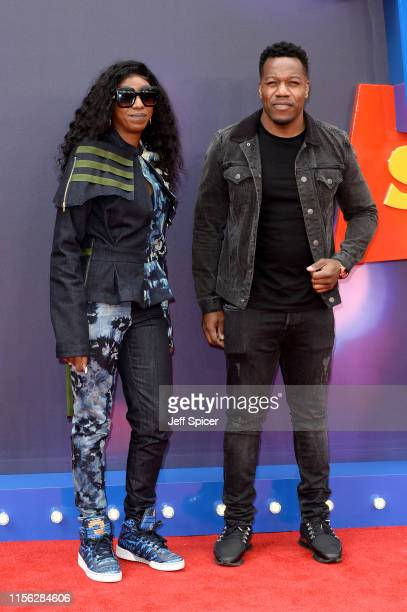 Locksmith and guest attend the Toy Story 4 European Premiere at Odeon Luxe Leicester Square on June 16 2019 in London England