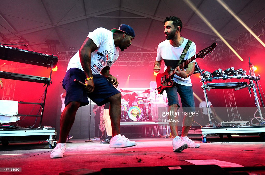DJ Locksmith and musician Amir Amor of Rudimental perform onstage at This Tent during Day 4 of the 2015 Bonnaroo Music And Arts Festival on June 14, 2015 in Manchester, Tennessee.