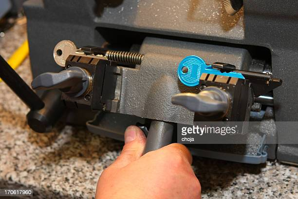 Locksmith at work....making spare key