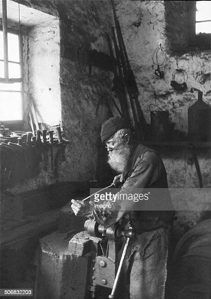 A locksmith Austria About 1900 Photograph probably by Franz Kaiser
