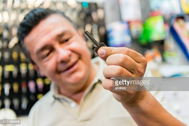 Locksmith copying a key