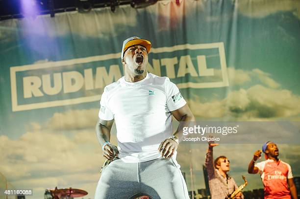 Locksmith of Rudimental perform on Day 1 of Lovebox festival taking place at Victoria park on July 17 2015 in London United Kingdom
