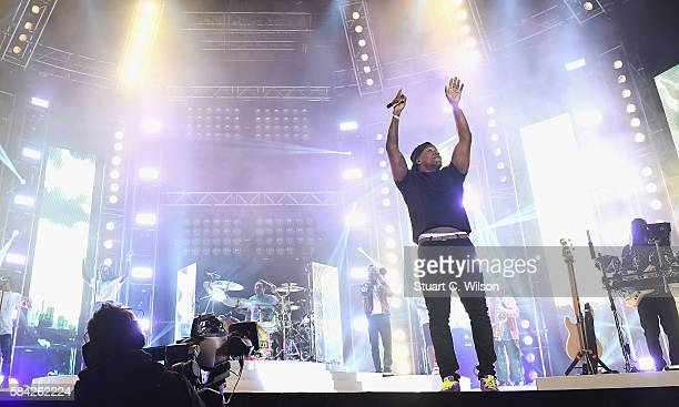 Locksmith of Rudimental performs on stage at MTV Crashes Plymouth at Plymouth Hoe on July 28 2016 in Plymouth England
