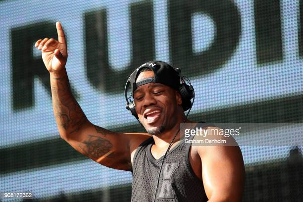 Locksmith of Rudimental performs on the Australian Open Live Stage during day seven of the 2018 Australian Open at Melbourne Park on January 21 2018...