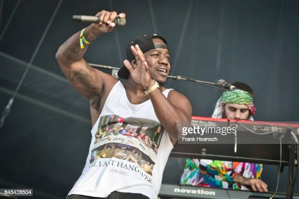 Locksmith of the British band Rudimental performs live on stage during second day at the Lollapalooza Festival on September 10 2017 in...