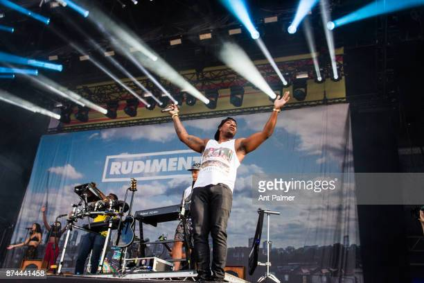 Locksmith performs on stage with British dance act Rudimental at Lollapalooza Berlin on September 10 2017 in Berlin Germany