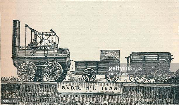 Locomotion no 1 built for the Stockton Darlington Railway 1825 From Cassell's Illustrated History of England Vol VII