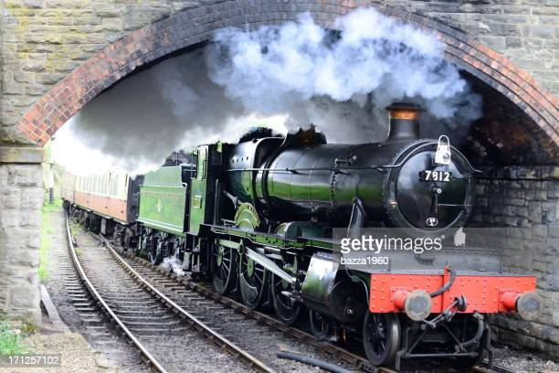 locomotive 7812. - worcestershire stock photos and pictures