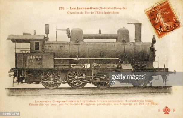 Locomotive autrichienne à vapeur compound Chemin de Fer Autrichien construite en 1902 dans l'exempire d'AutricheHongrie