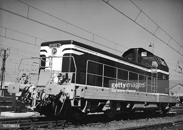 Locomotive Diesel Electric Type Of Sncf 040 Dg On September 07Th 1959