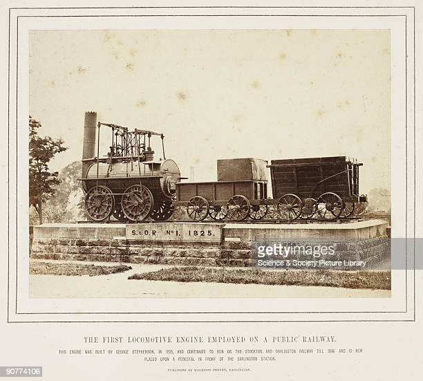 040 locomotive 'Locomotion number 1' outside Darlington station about 1875 This locomotive was built by George Stephenson in 1825 and was used on the...