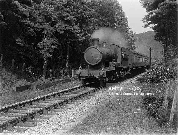 GWR locomotive no 3337 Great Western Railway 440 Bulldog class locomotive no 3337 between Castle Hill viaduct and Filleigh on 5 toplight coach down...