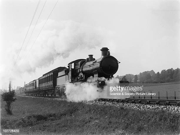 GWR locomotive no 3364 Great Western Railway 440 Bulldog class locomotive no 3364 on up local train leaving Barnstaple Ease Junction c1928 5 coaches...