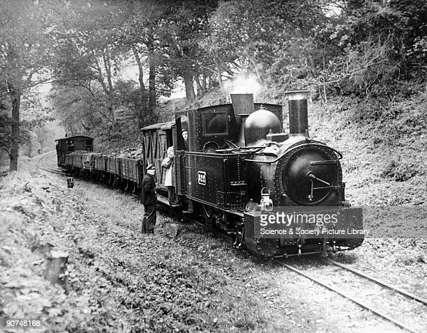 Locomotive No 822 on the Welshpool and Llanfair Light Railway early 20th century. The narrow gauge Welshpool and Llanfair Light Railway opened in...
